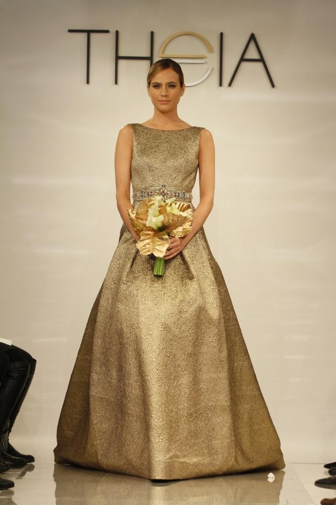 Gold Wedding Dress Ava Theia 2014