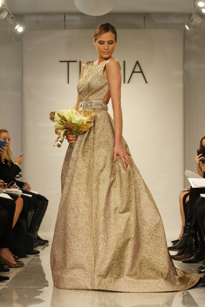 Ava by Theia 2014, Gold Wedding Dress
