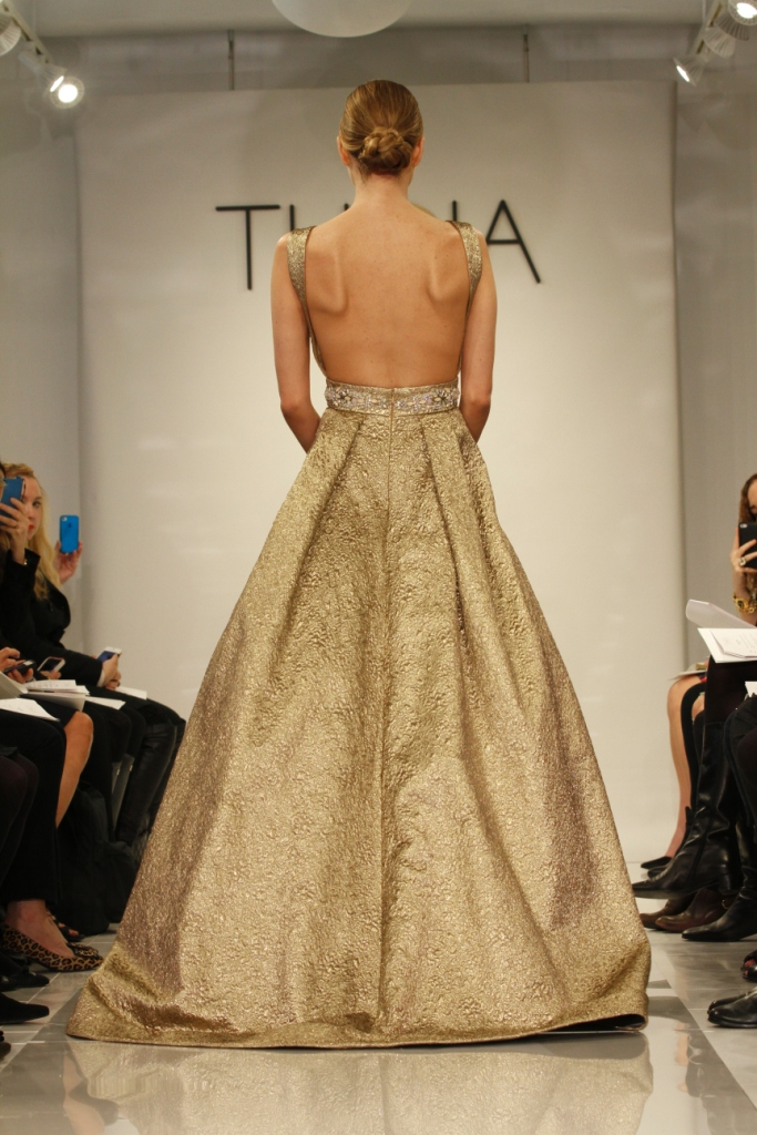 Ava Back Gold Wedding Dress by Theia