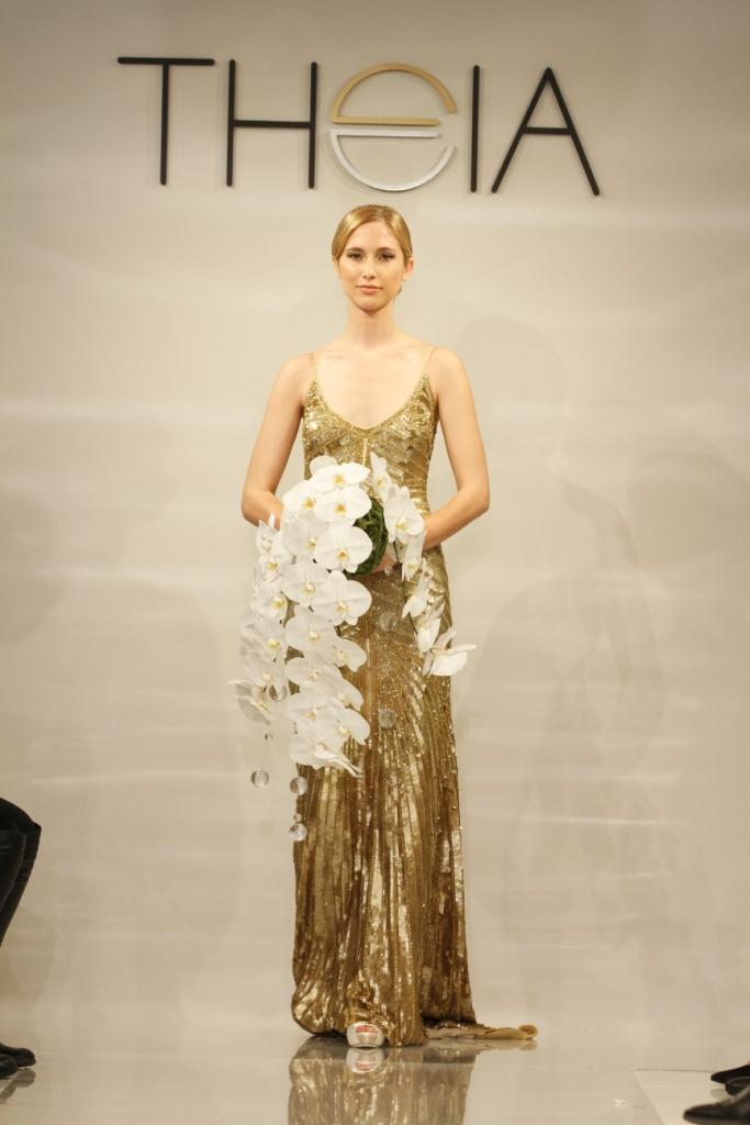 Gloria Gold Deco Wedding Dress by Theia for 2014