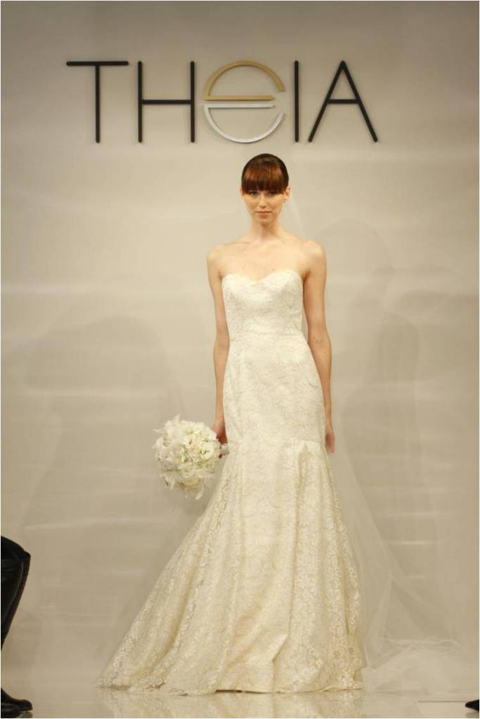 Mallory Strapless Wedding Dress by Theia