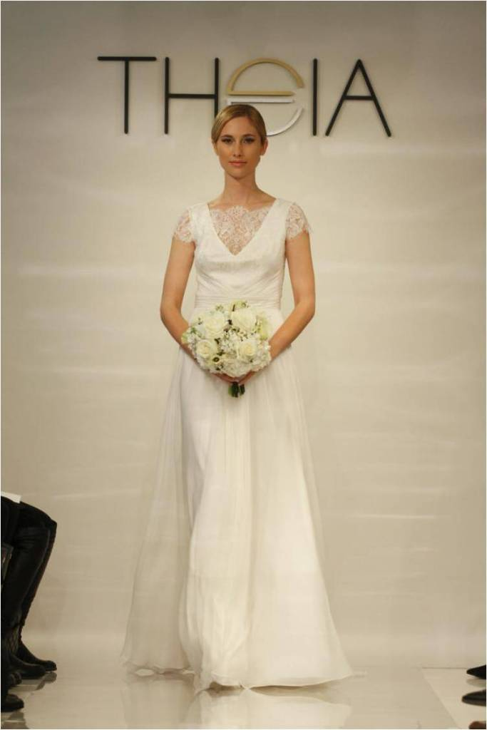 Anise Lace Cap Sleeve Wedding Dress by Theia 2014