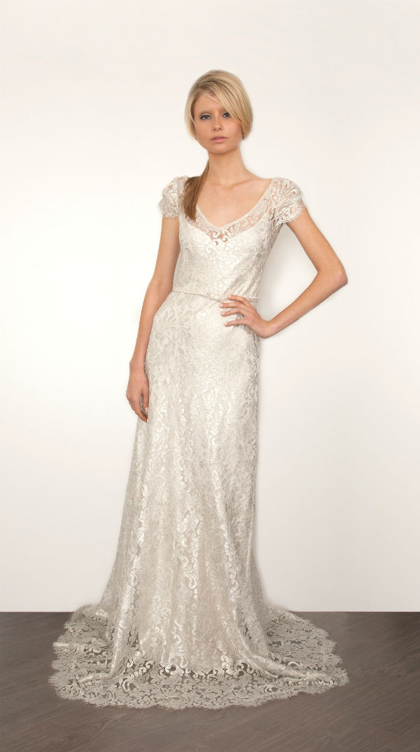 Bettina by Sarah Janks Silver Lace Wedding Dress