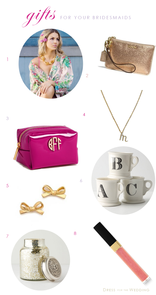 Great Wedding Gifts For Bridesmaids : more than 8 gift ideas this post uses affiliate links