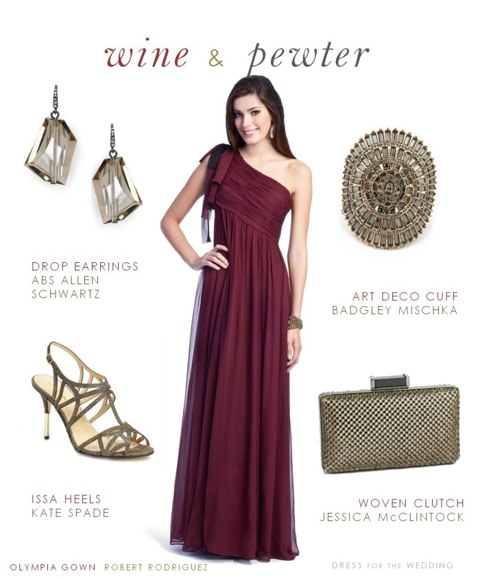Burgundy Formal Gown