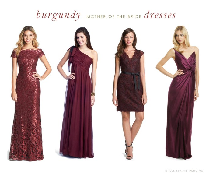 burgundy mother of the bride dresses