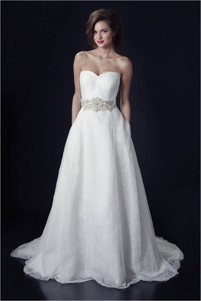 Eloise Gatsby and Jeana Lee Belt Strapless Wedding Dress by Heidi Elnora