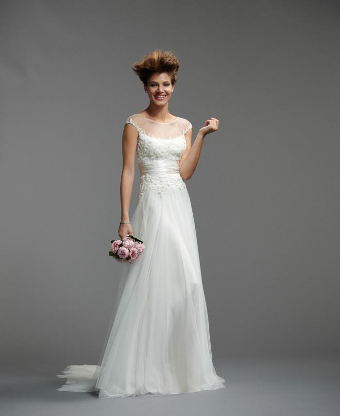Ghila_by_Watters_Spring 2014_Style 5086B_Wedding Dress Illusion Neckline