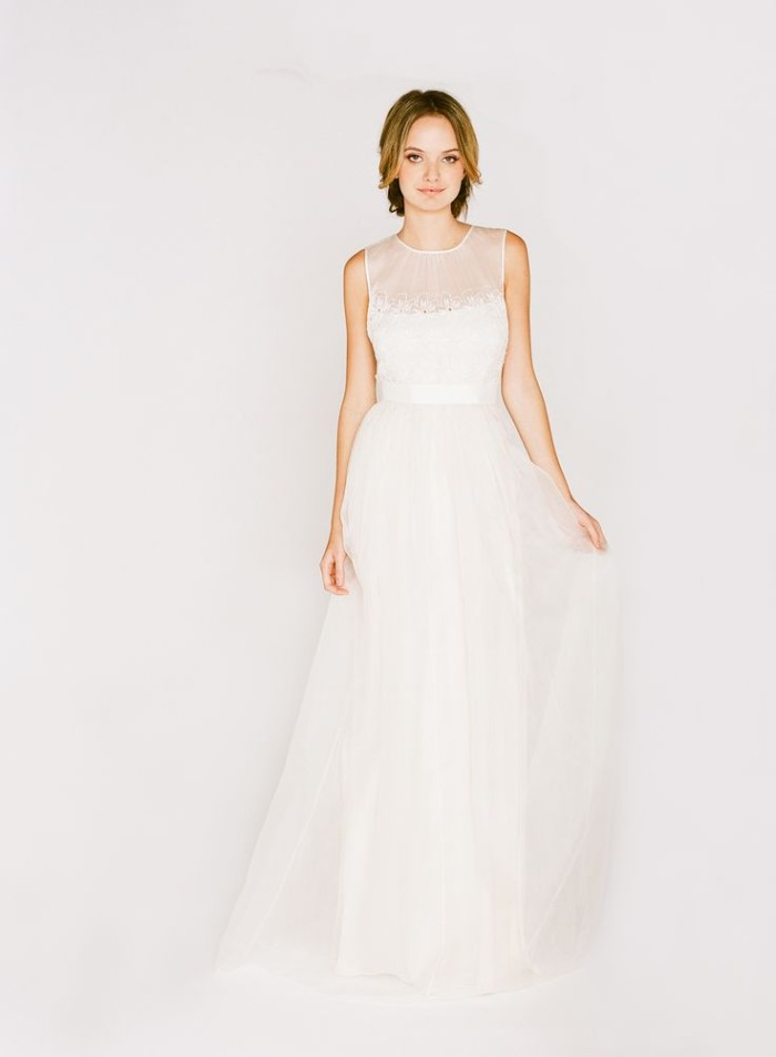 Illlusion Neckline Wedding Dress by Saja Style FL6290