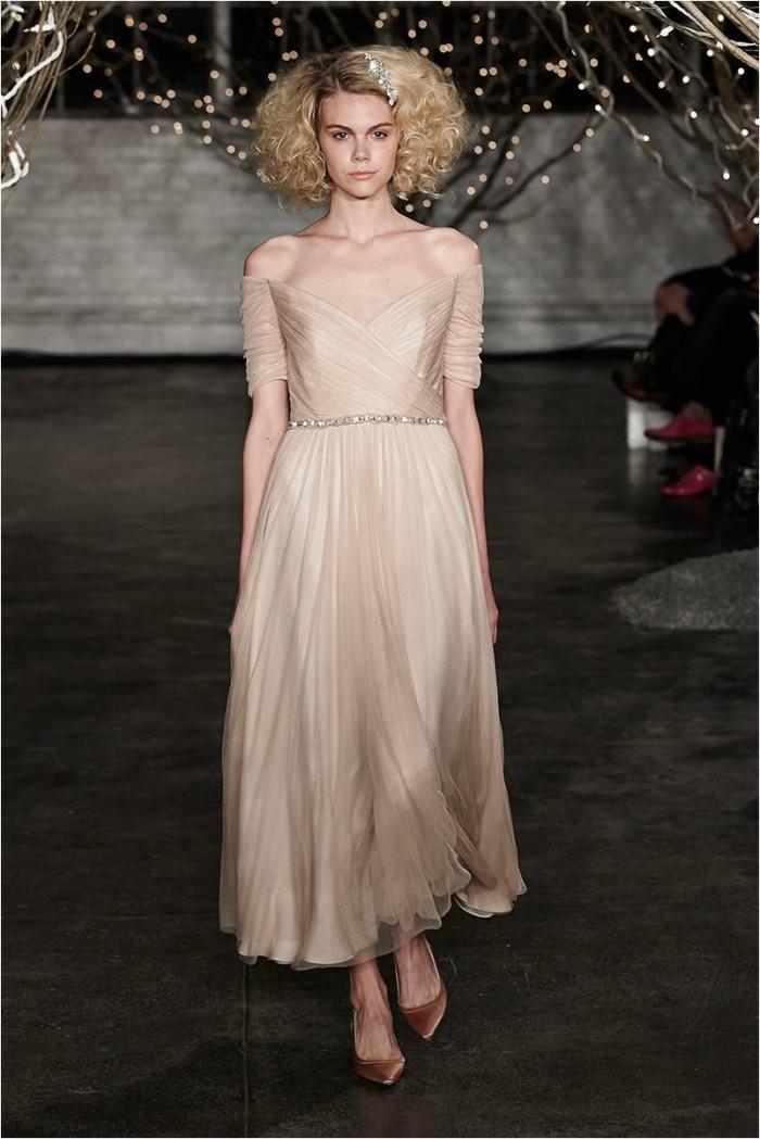 Jenny Packham Off the Shoulder Wedding Dress