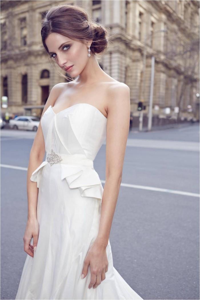 KWH Bespoke - Alassandra Strapless Peplum Wedding Dress