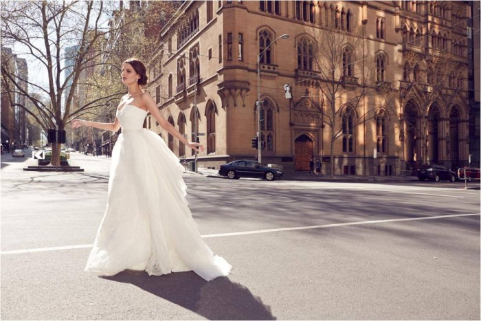 KWH Bespoke - Willow Strapless Wedding Dress with Clarisse Train