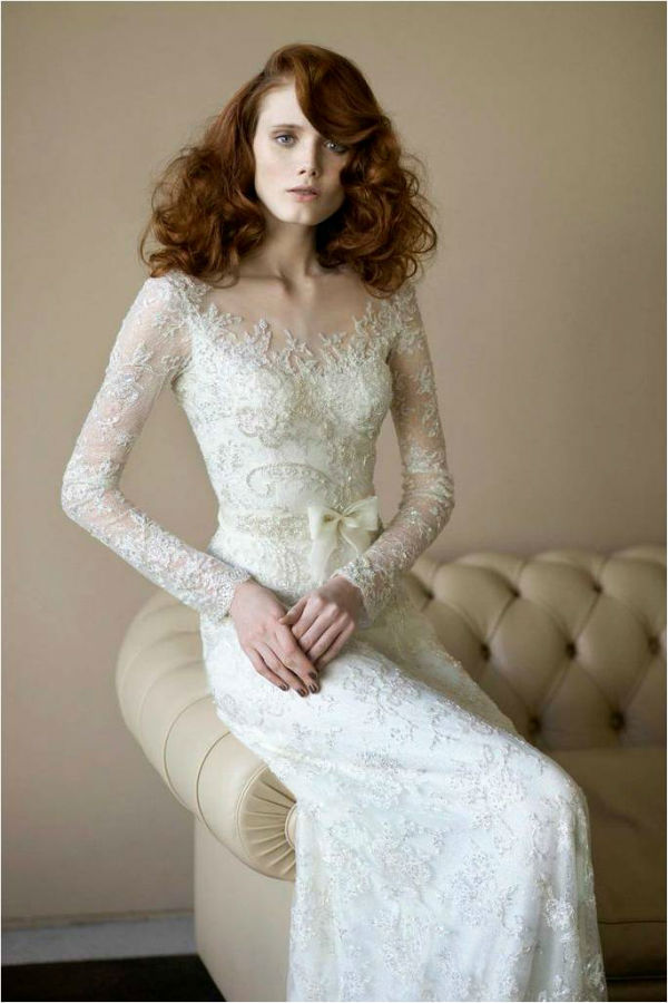 Lace Wedding Dress by Mira Zwillinger Angelina