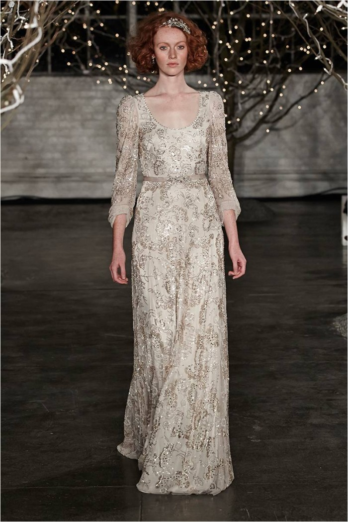 Jenny packham bridal collection 2014 for Long sleeve beaded wedding dress