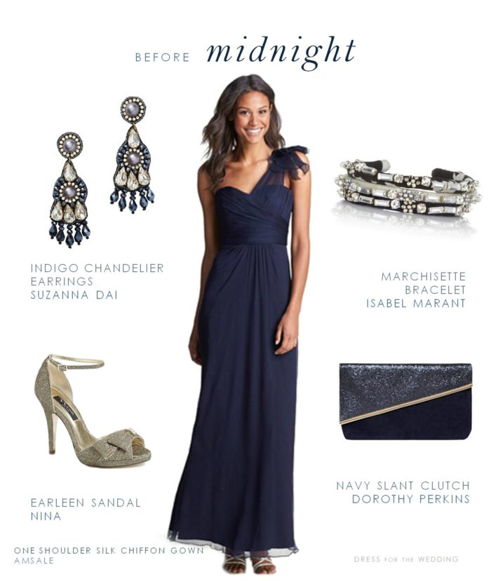Midnight Blue Formal Dress for a Wedding