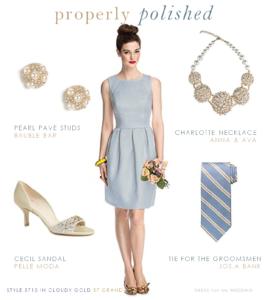 Pale Gray Blue Bridesmaid Dress
