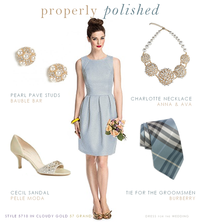 Pale Gray Blue Bridesmaid Dress