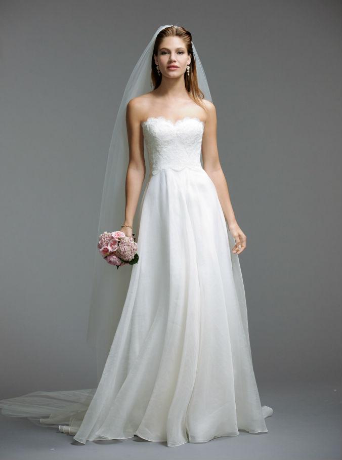 Rada by Watters Style 5074B Strapless Wedding Dress Lace Bodice