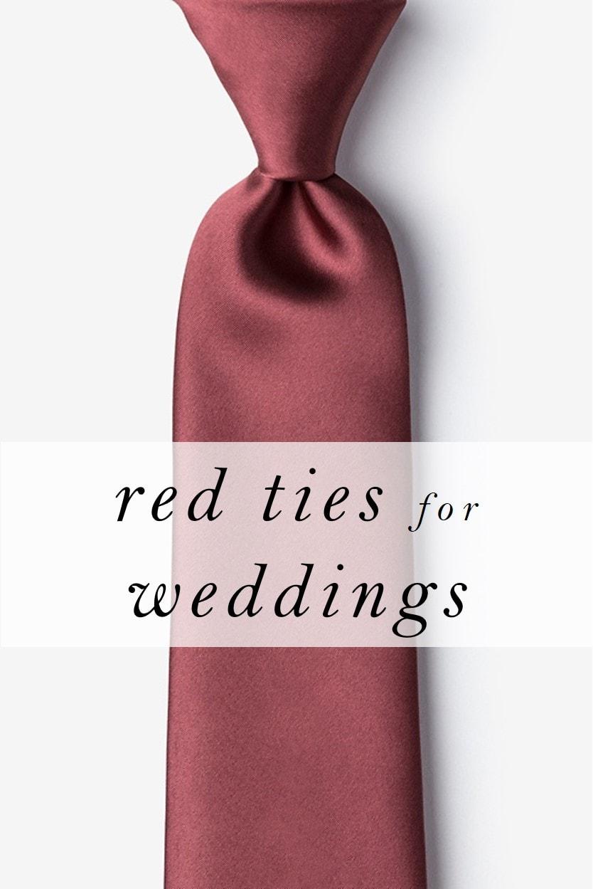Red Wedding Ties for Groomsmen