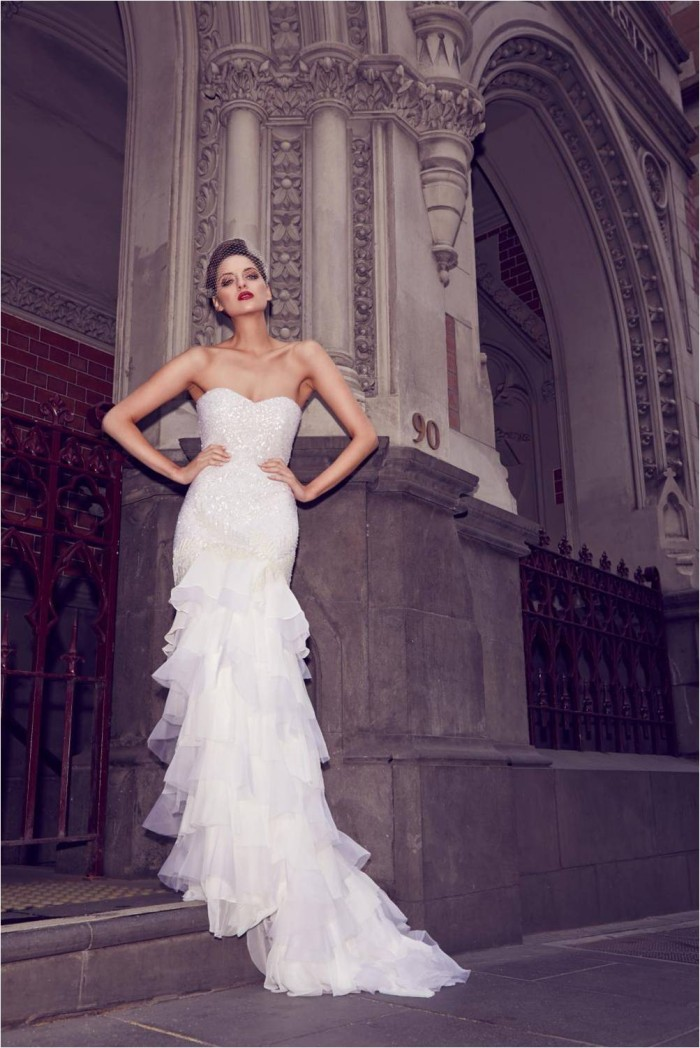 Rosetta by KWH Sequin Wedding Dress
