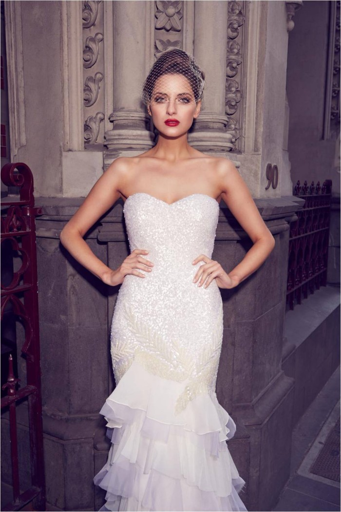 Rosetta by KWH Sequin Wedding Gown
