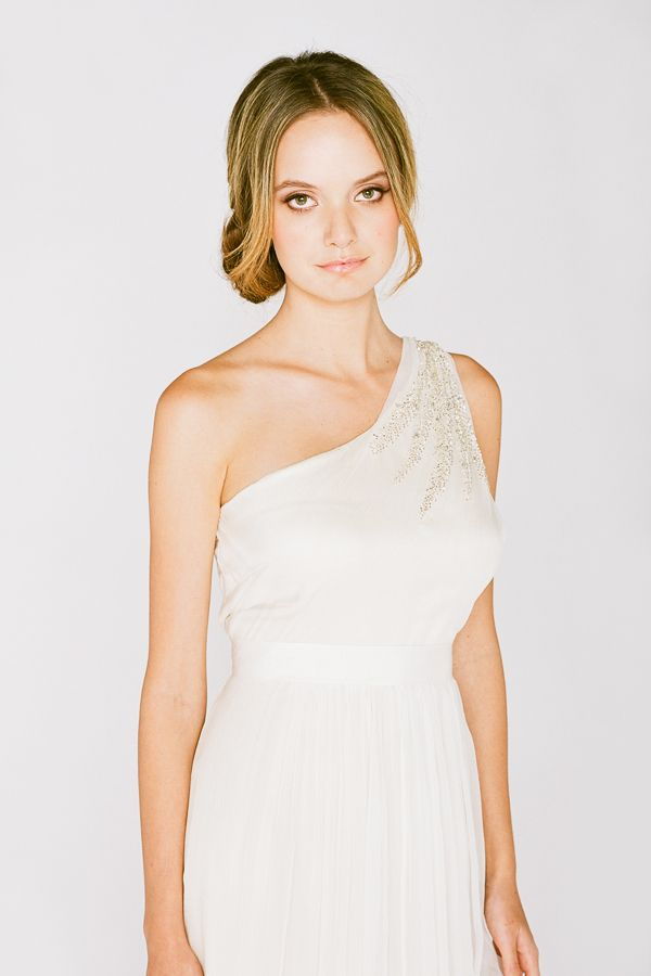 Saja One Shoulder Wedding Dress Style RC6225