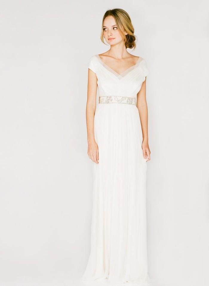 Short Sleeve Wedding Dress Saja 2013 HB6565