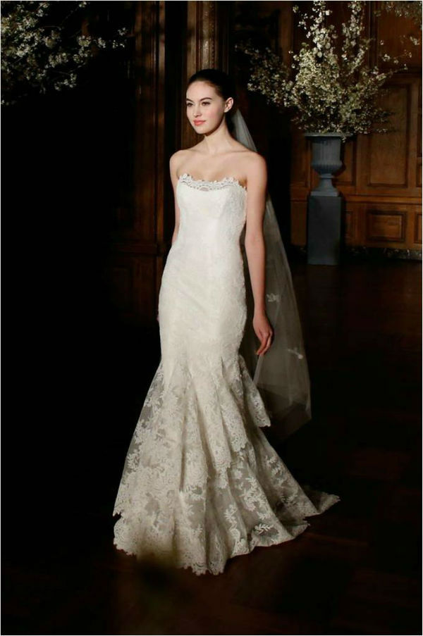 Strapless Lace Wedding Dress L506 Romona Keveza Spring 2014