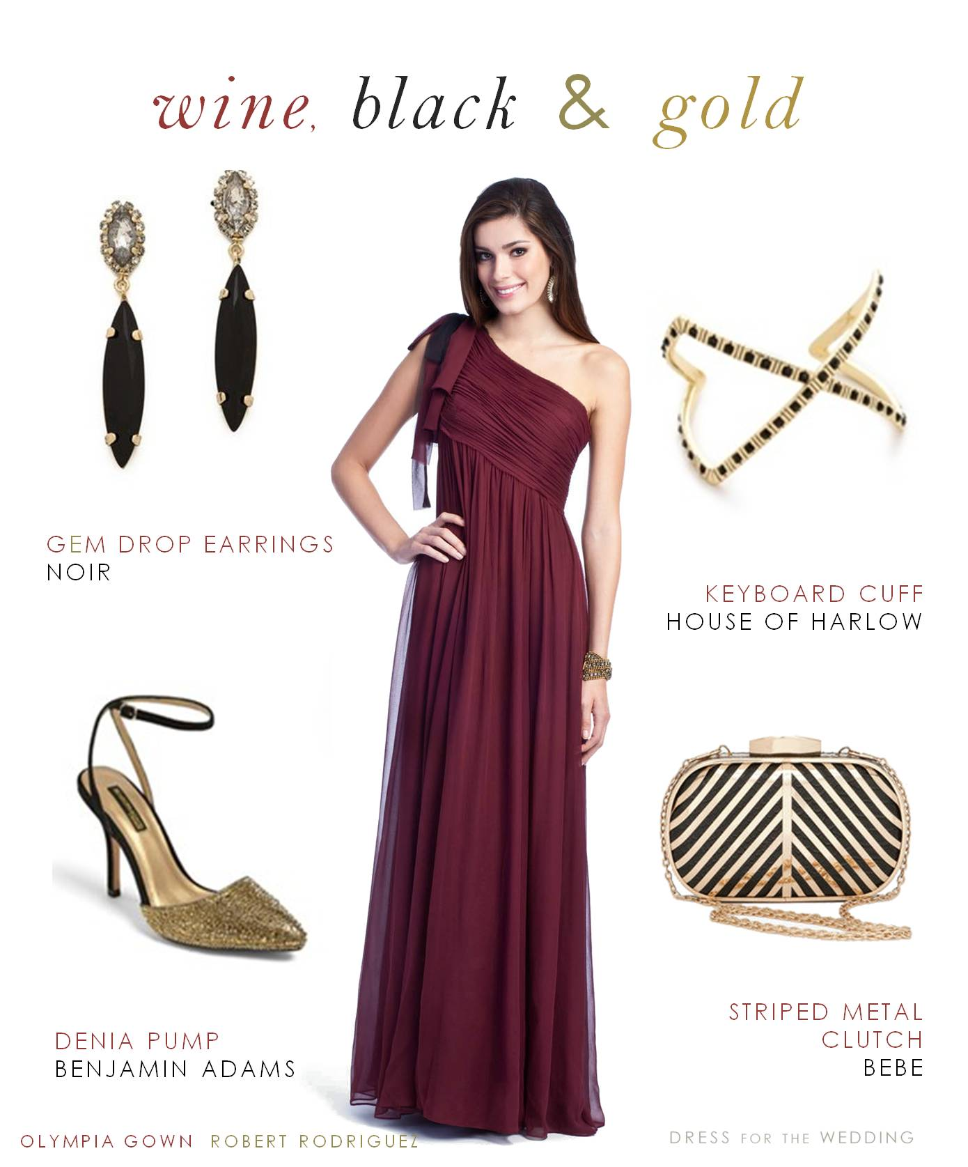 Wine Evening Gown