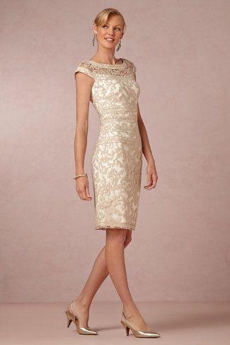 Neutral lace MOB dress Kinley BHLDN