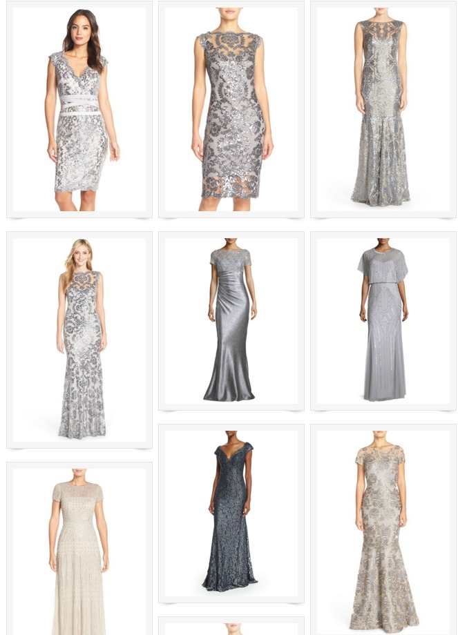 silver mother of the bride dresses gray mother of the bride dresses