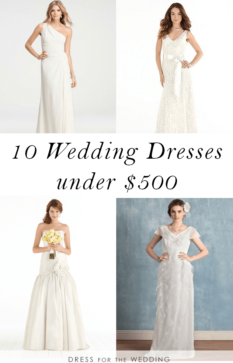 10 Wedding Dresses Under 500