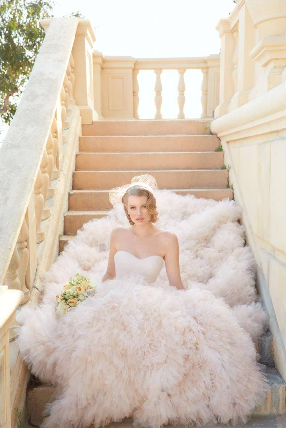Allegra Blush Wedding Dress Wtoo 2014