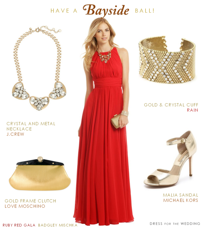 Red Ballgown for Holiday Parties and Weddings