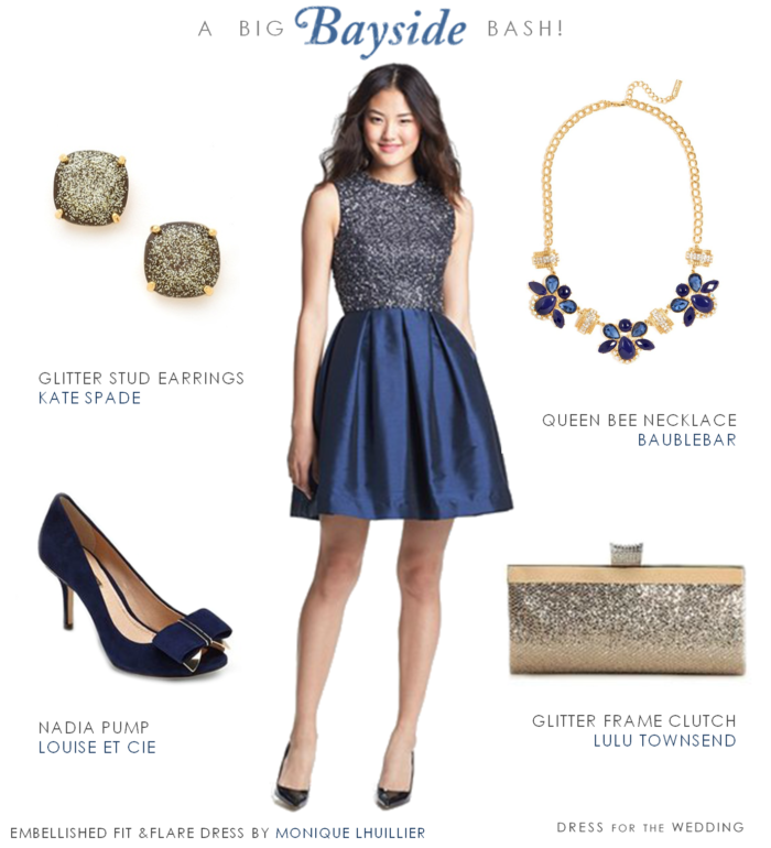 Blue Sequin Party Dress