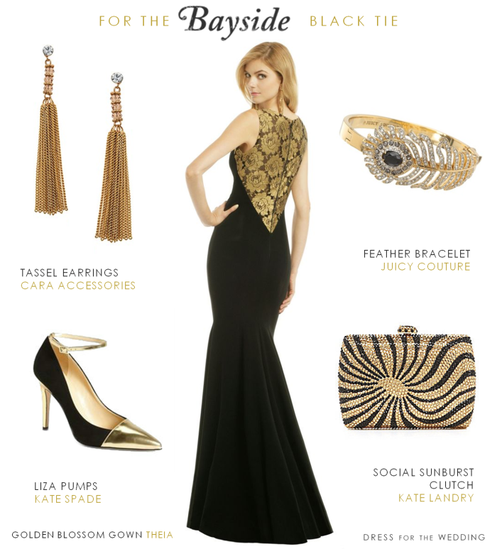 Black and gold formal gown
