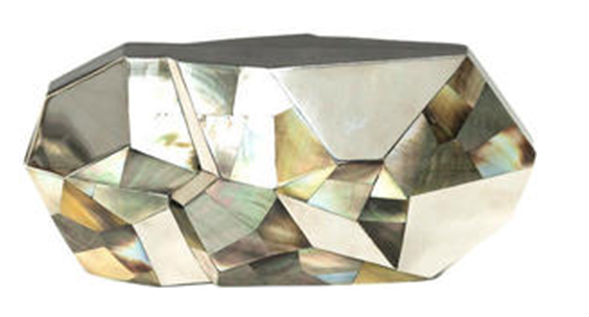 Faceted Bridal Clutch
