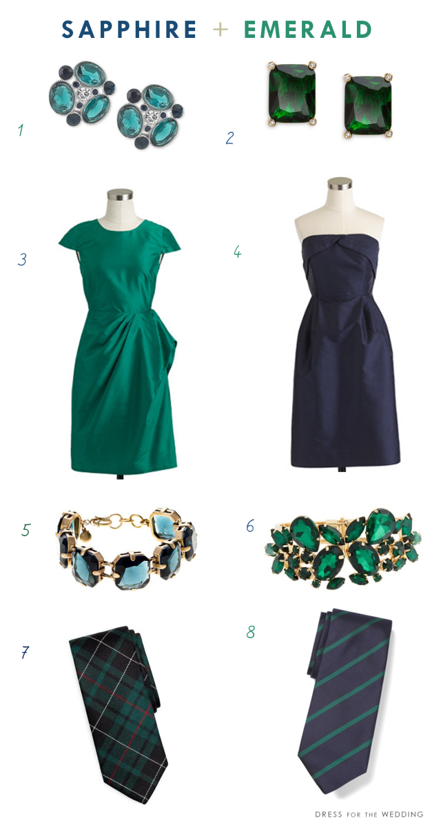 Sapphire And Emerald Green Blue Wedding Colors