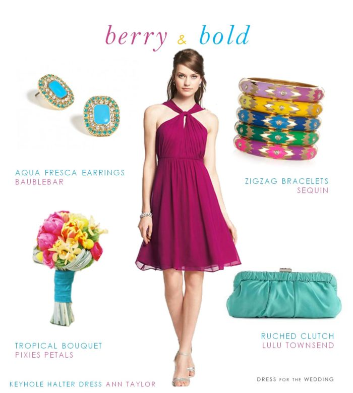 Hot Pink and Turquoise Wedding Colors