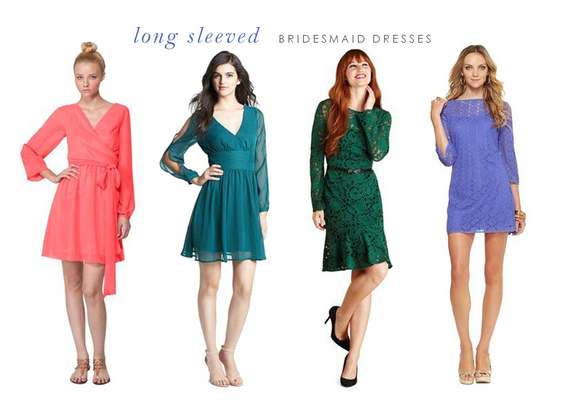 15 of the Best Long Sleeved Dresses for Bridesmaids
