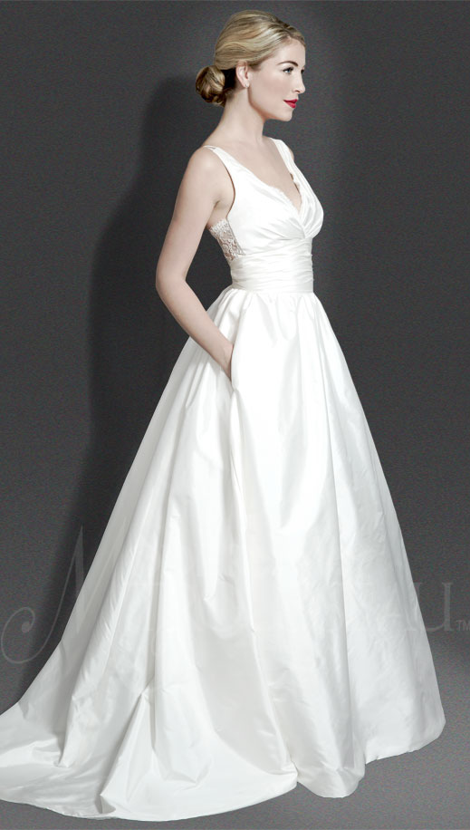 Modern Trousseau  Bridal Gowns - Meadow wedding dress with pockets