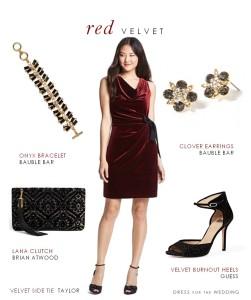 Red Velvet Dress for Weddings
