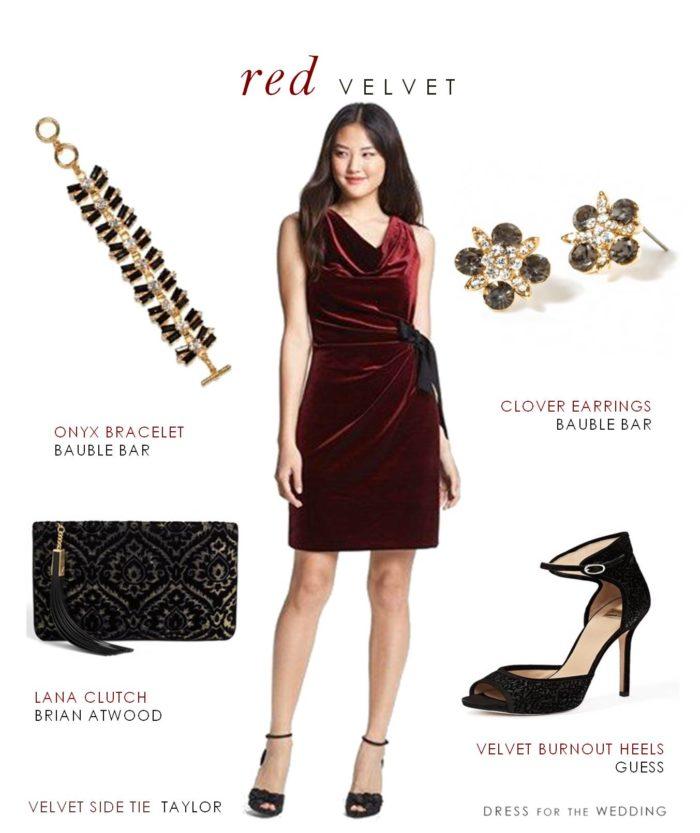 Red Velvet Dress for a Wedding