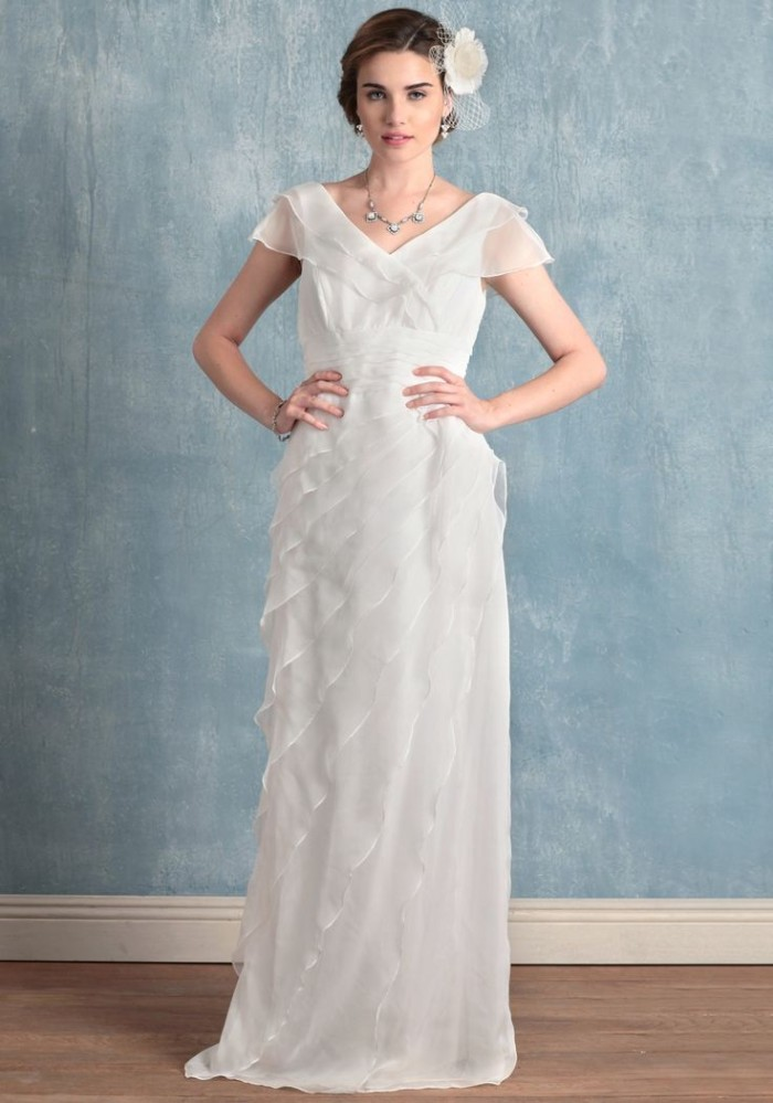 Ruche Wedding Dress under $500