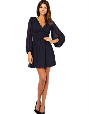 Winter long sleeve dresses