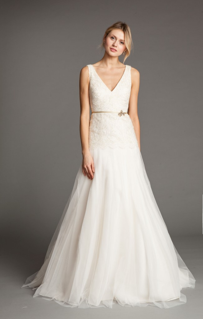 Vionnet V-Neck Wedding Dress by Jenny Yoo