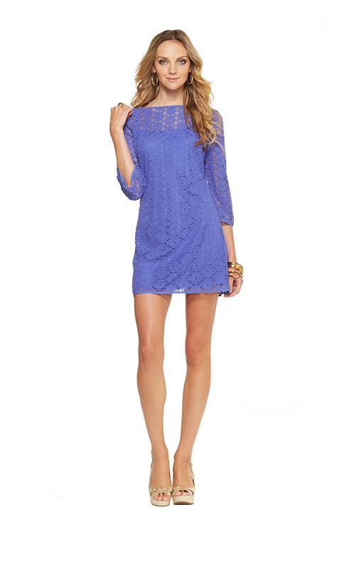 Topanga Dress Blue Lace by Lilly Pulitzer