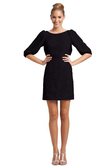 black long sleeve bridesmaid dress