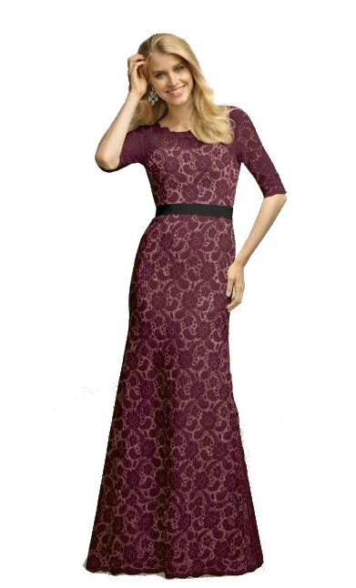 watters coriander dress long lace gown