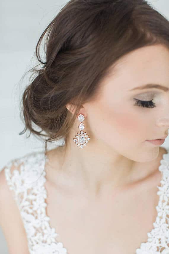 gorgeous wedding earrings